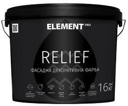 Element Pro Relief декоративная краска 16кг