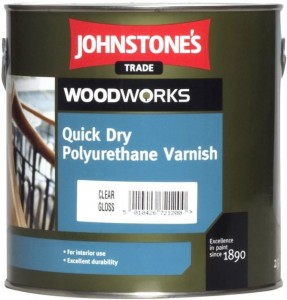 Johnstones Quick Dry Polyurethane Varnish Clear Glos водорастворимый лак 2,5л