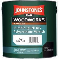 Johnstones Quick Dry Polyurethane Varnish Clear Satin панельный лак 2,5л